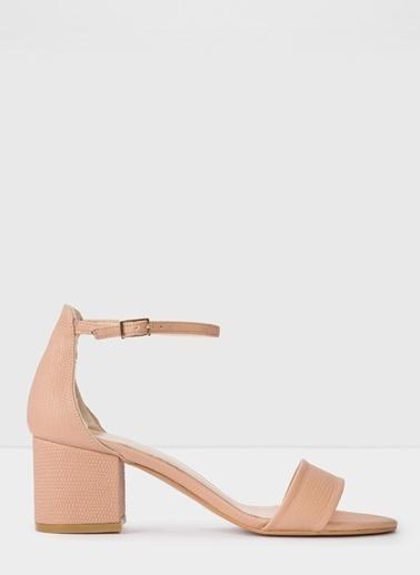 Aldo Villarosa-Tr - Bej Kadin Topuklu Sandalet Beyaz